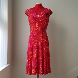 Lauren Ralph Lauren patterned v-neck dress